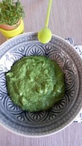 Nix Grünsmoothie (das ist für mich pürierter Salat), lecker grüne Soße - voll gesund!