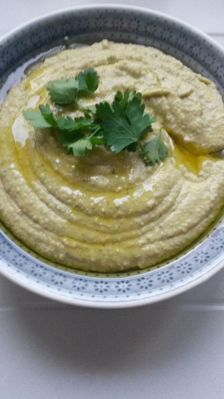 Das ist der Hummus, der war auch der Knaller...
